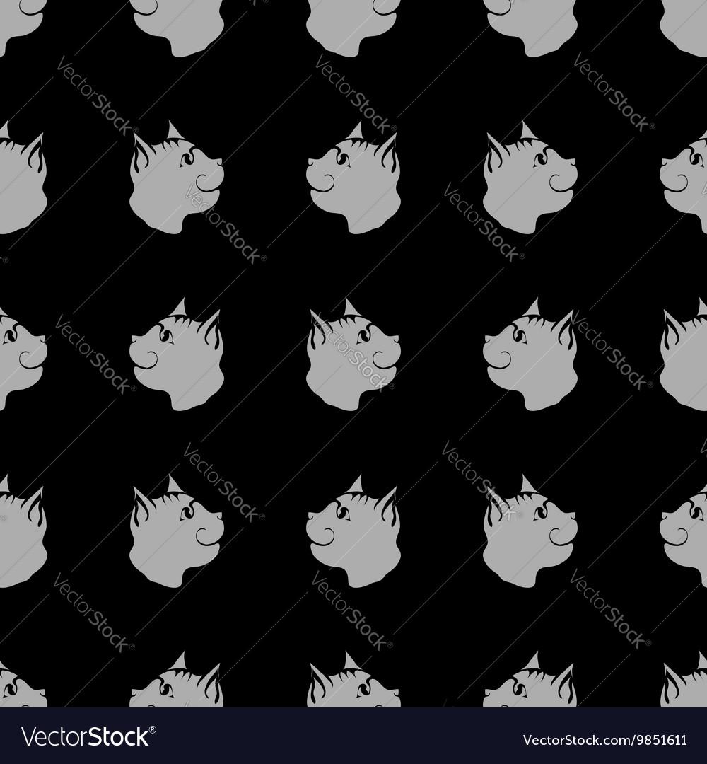Cat Seamless Animal Pattern vector image