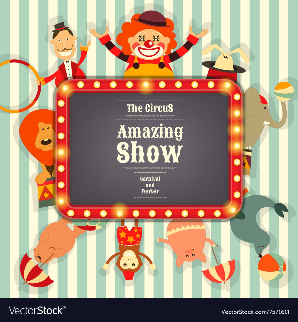 Circus Funfair and Carnival vector image