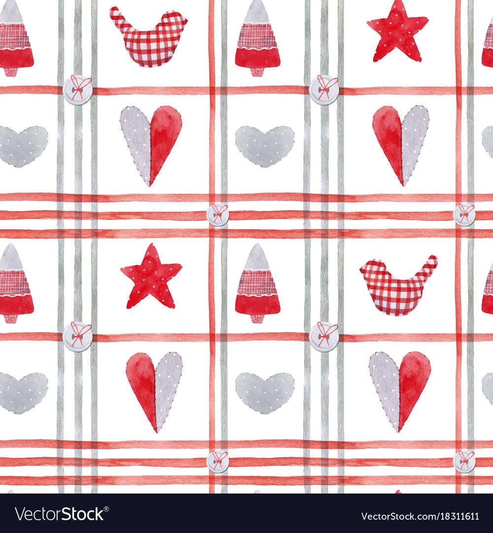 Nice watercolor christmas pattern