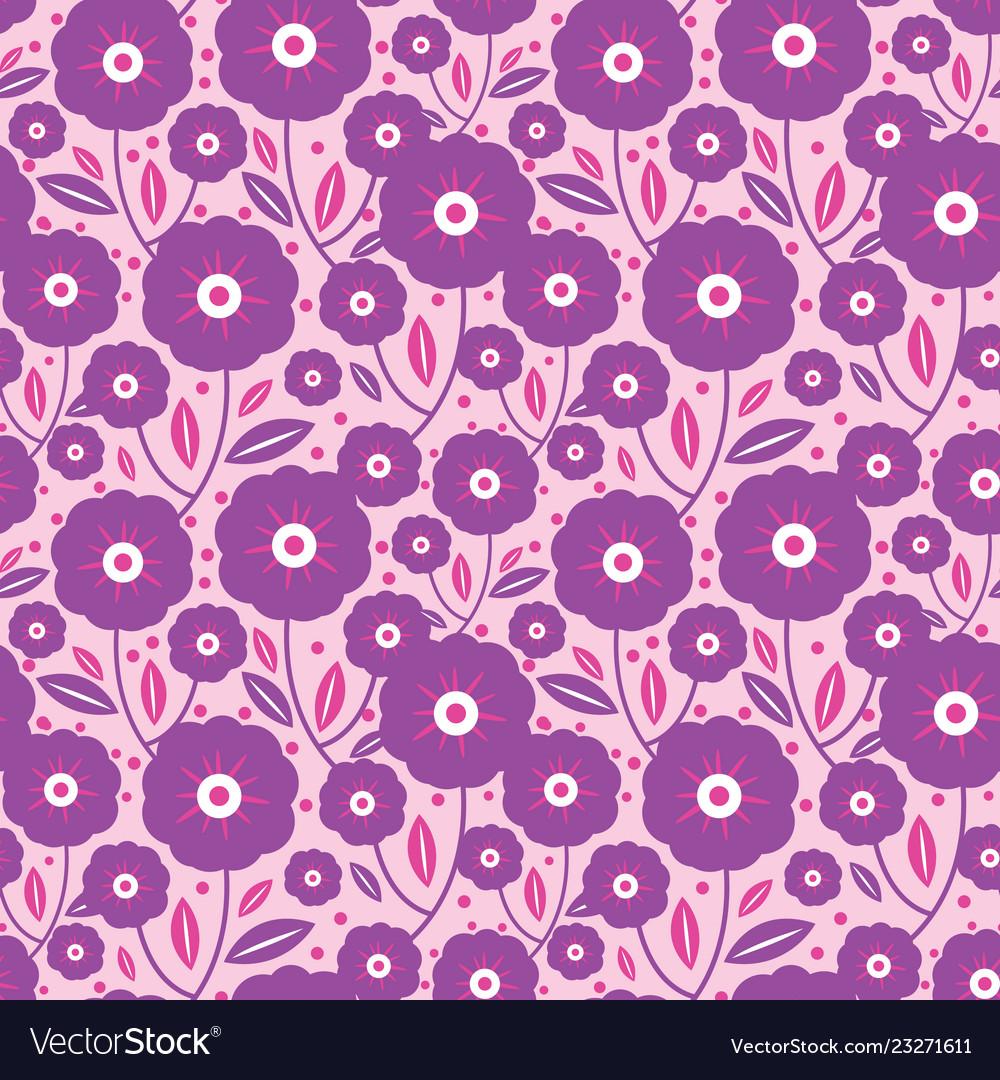 Purple folk flowers texture pattern
