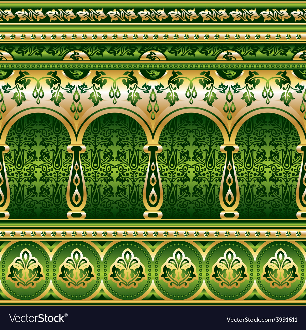 Silk green ornament