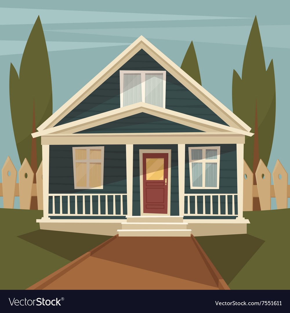 Vintage house vector image