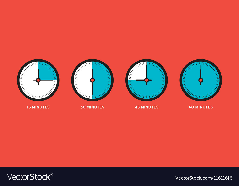 Clock Set of time in one hourquarter
