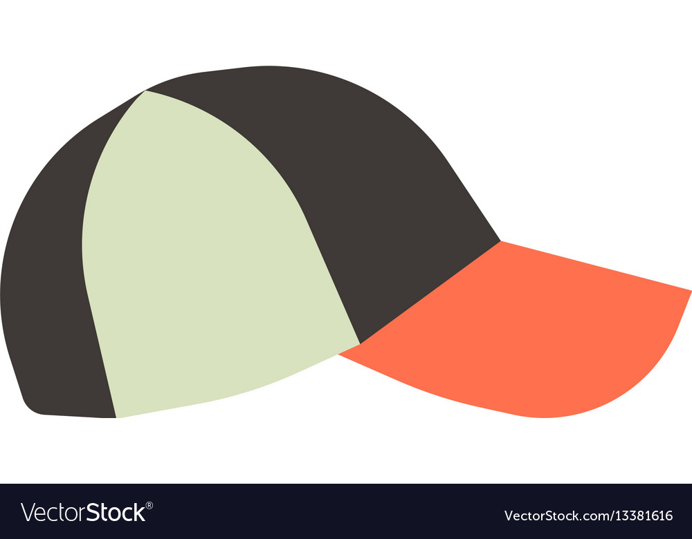 Front view colorful baseball cap isolated on white