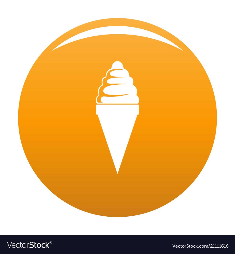 Ice cream icon orange