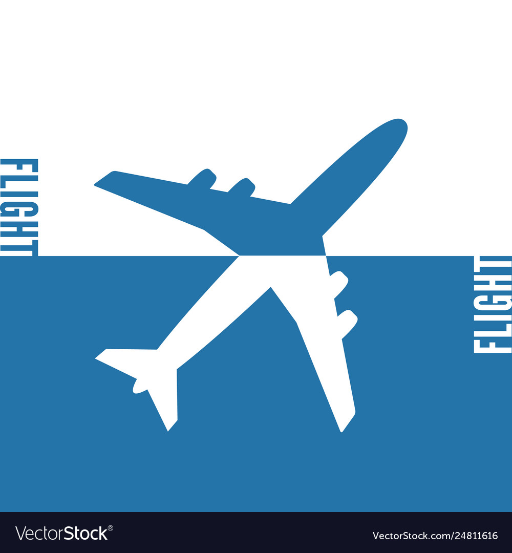 Plane icon solid concept