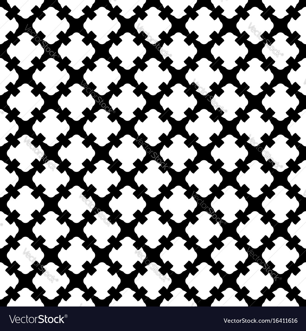 Seamless Pattern Black White Gothic Texture Vector Image