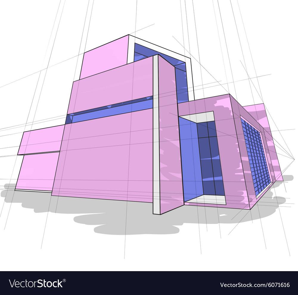 Sketch house colors Royalty Free Vector Image - VectorStock