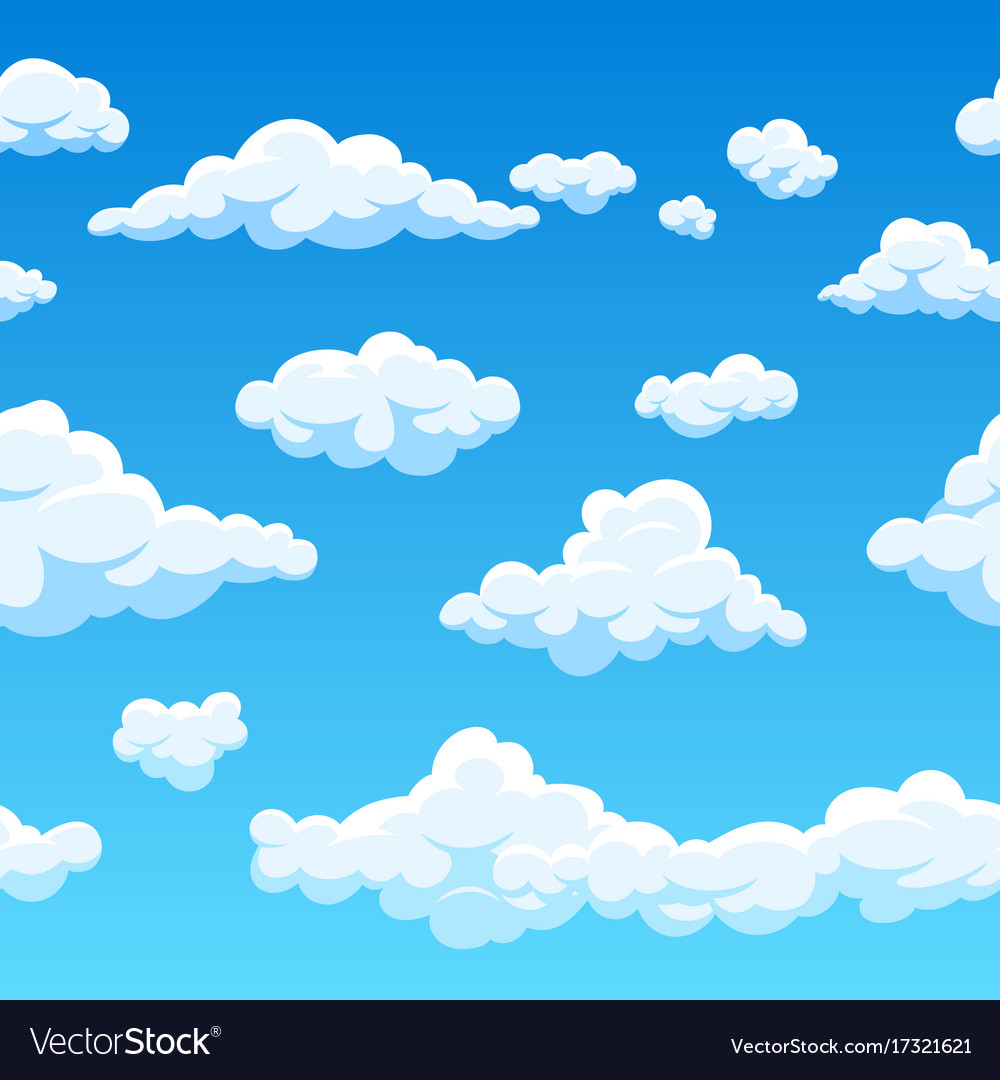 Cloud Seamless Background Endless Cartoon Vector Image Download 120,000+ royalty free cloud cartoon vector images. vectorstock