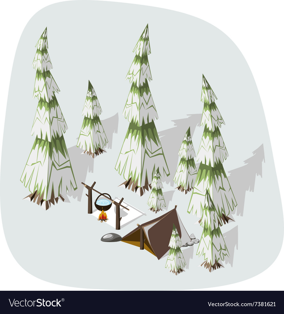Extremal winter hiking vector image