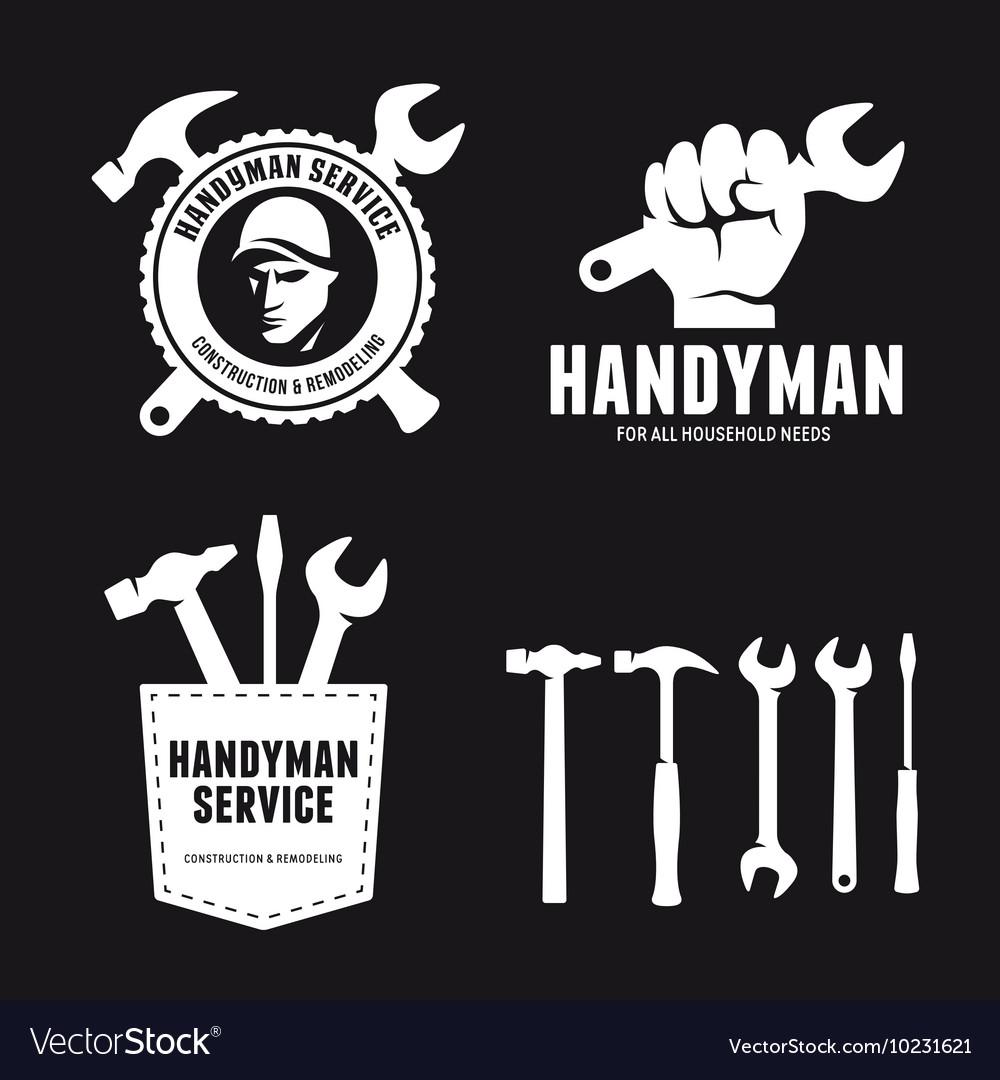 Handyman labels badges emblems and design elements