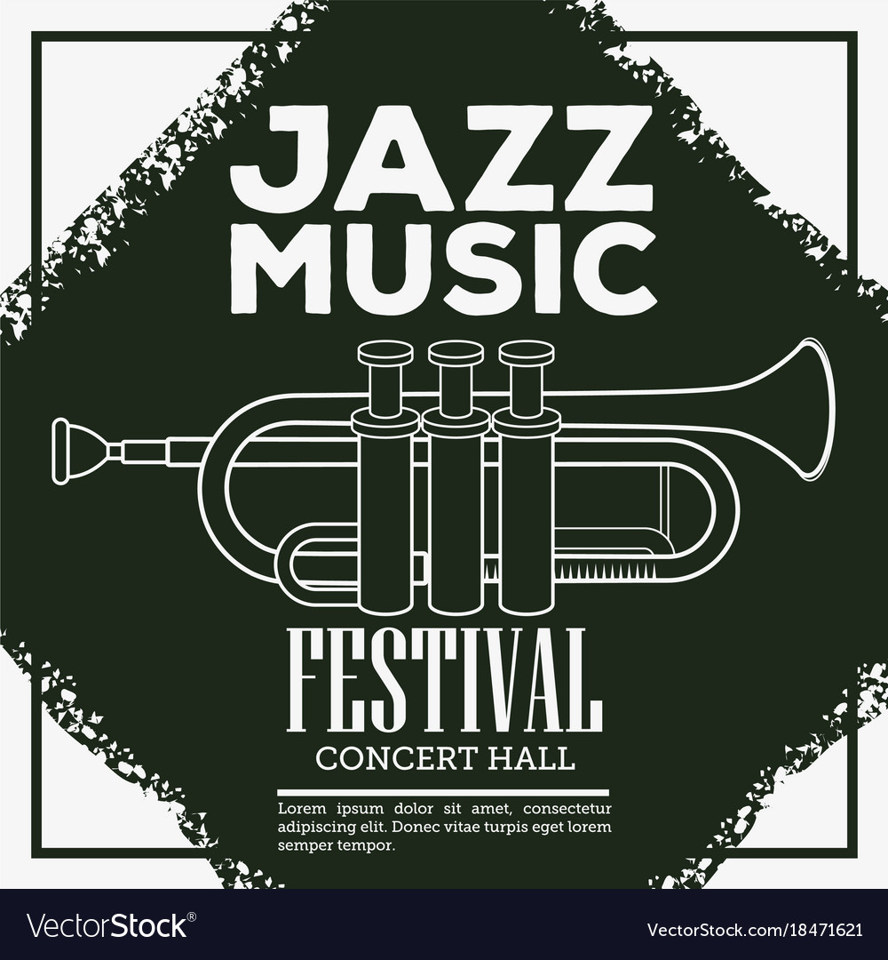 Jazz musical festival flyer