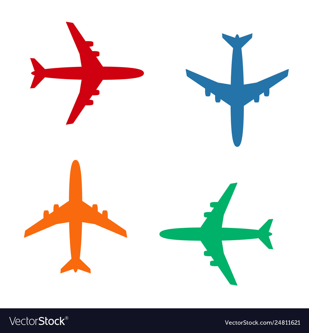Plane icons solid color