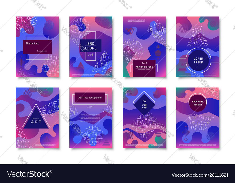 Set brochure templates covers backgrounds