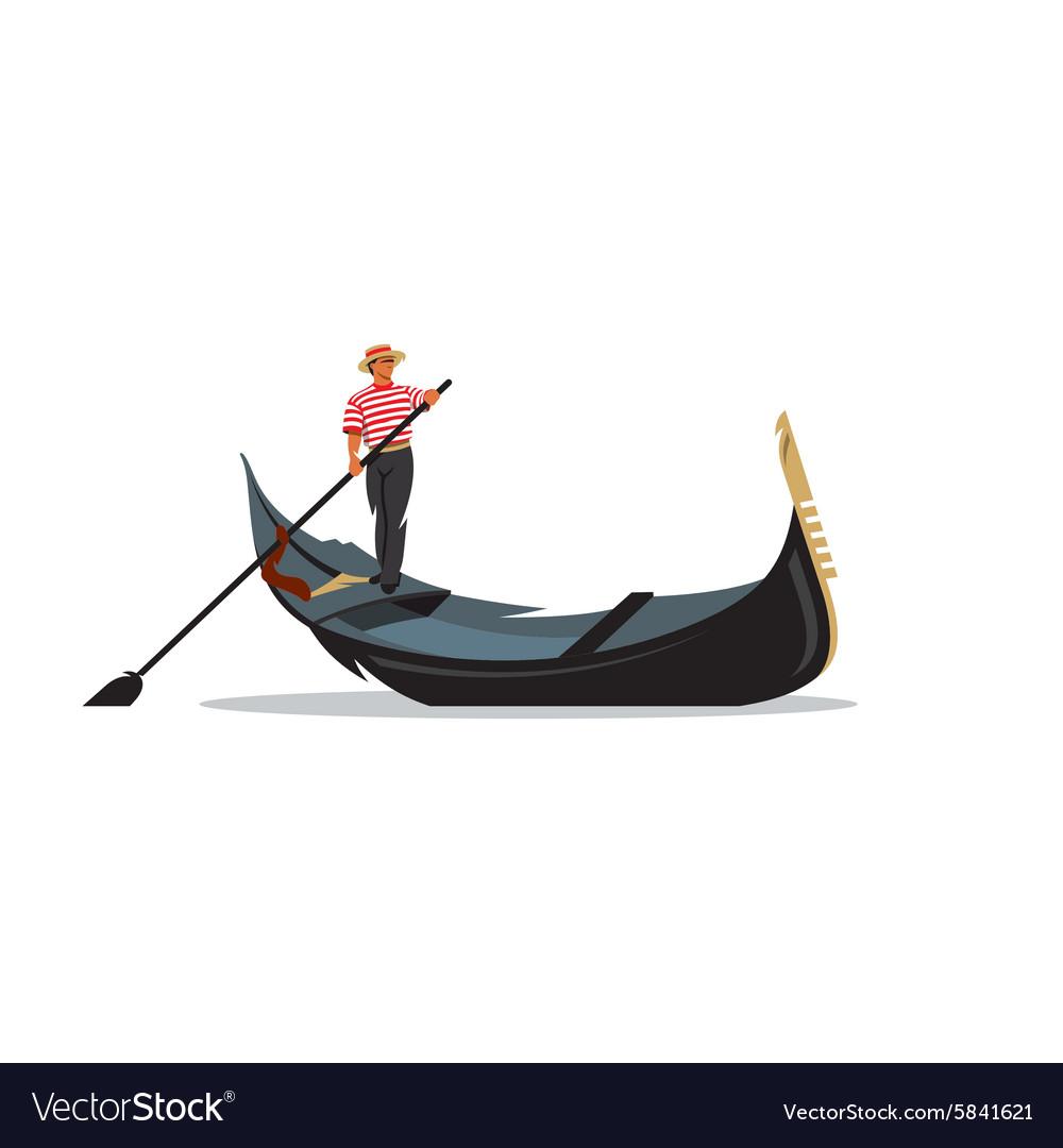 Venice gondola gondolier rowing oar sign