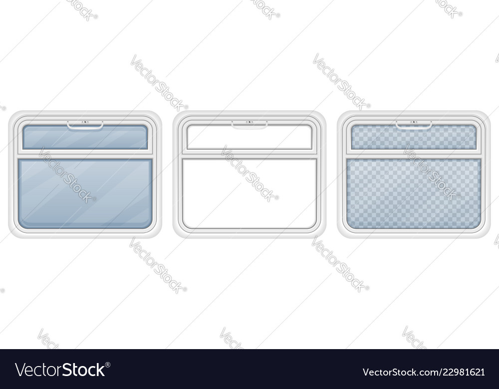 Window in the train compartment vector image on VectorStock