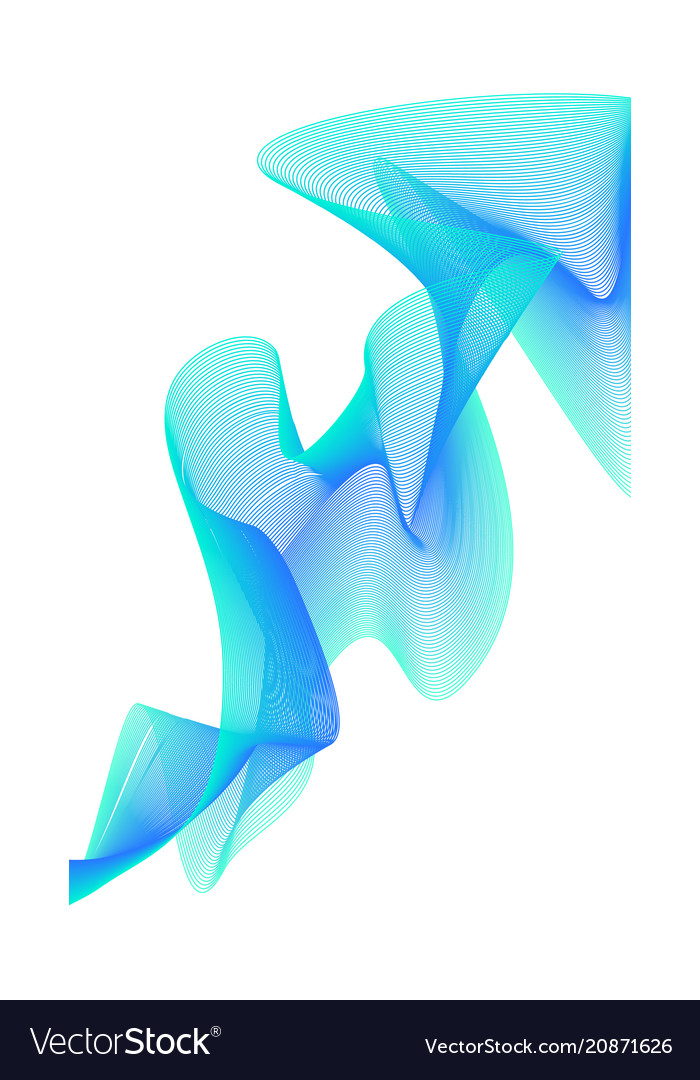 Abstract colorful creative wave line background