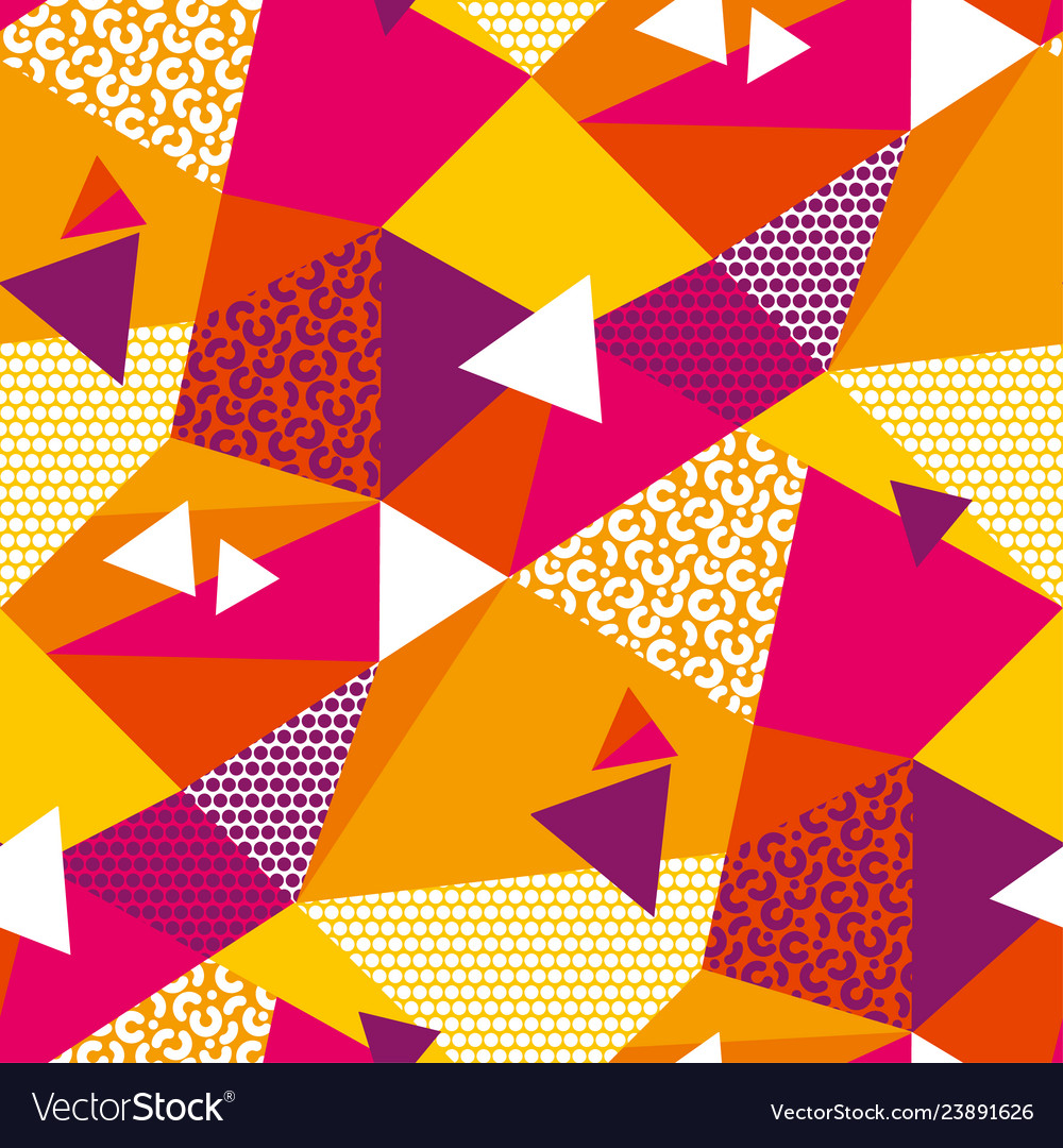 Abstract geometric shapes color seamless pattern