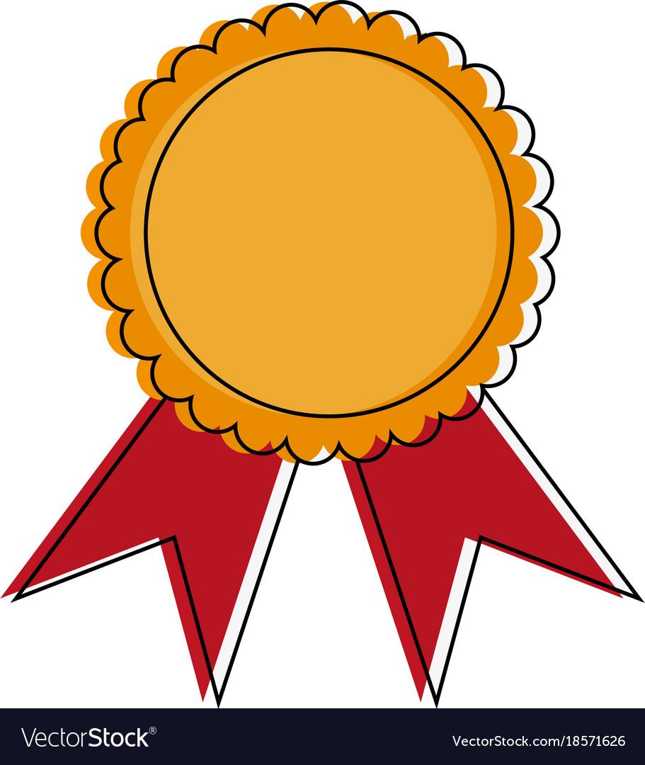 Award ribbon symbol