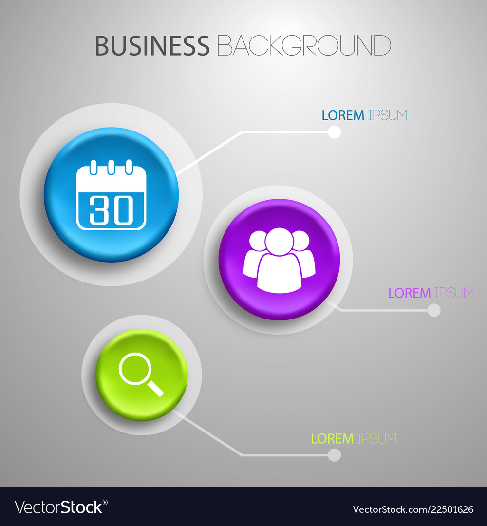 Business light infographic concept