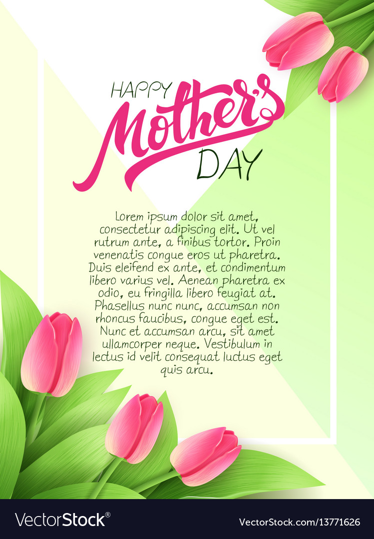 Hand drawn mothers day greeting card with vector image m4hsunfo