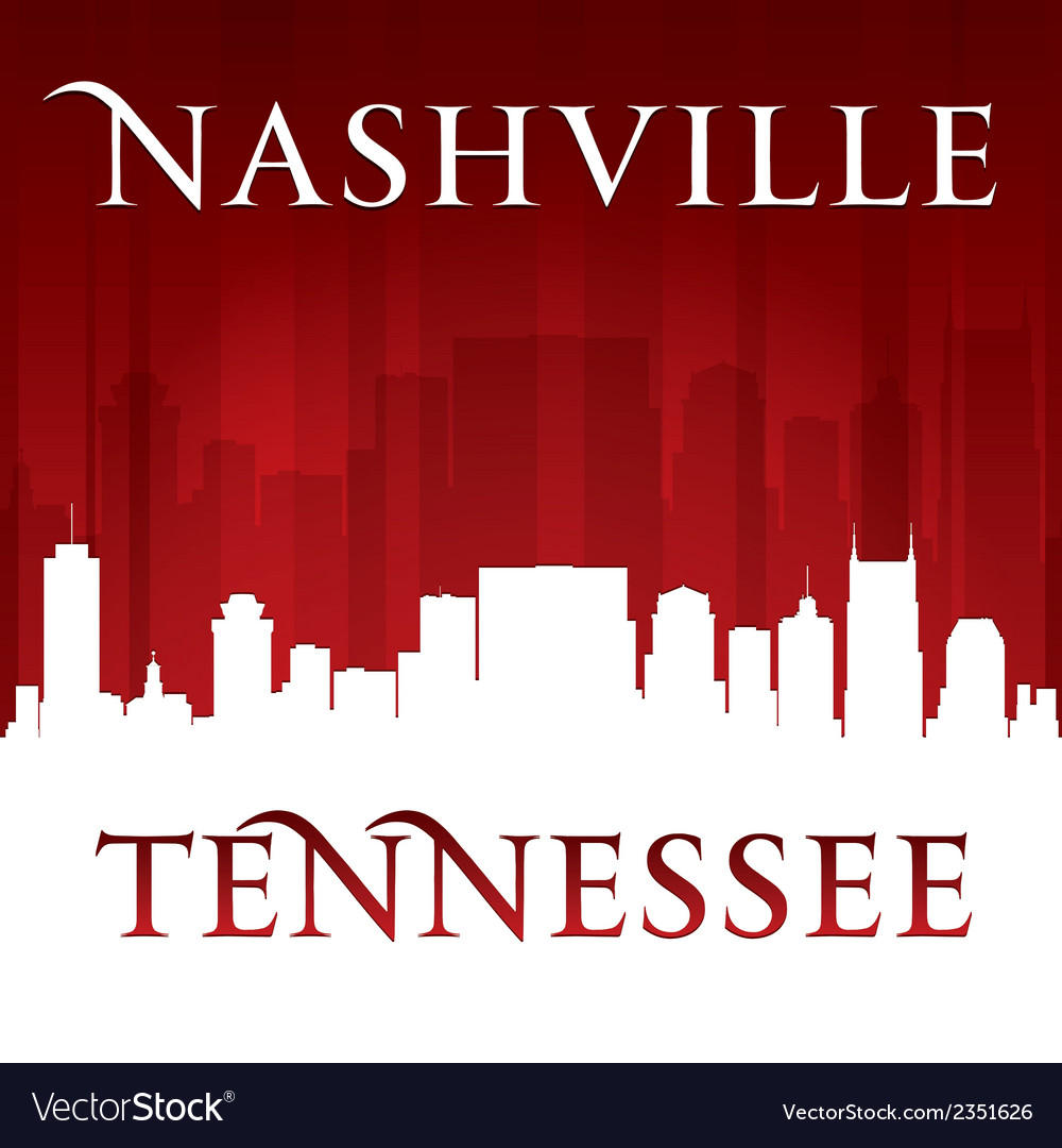 Nashville Tennessee city skyline silhouette