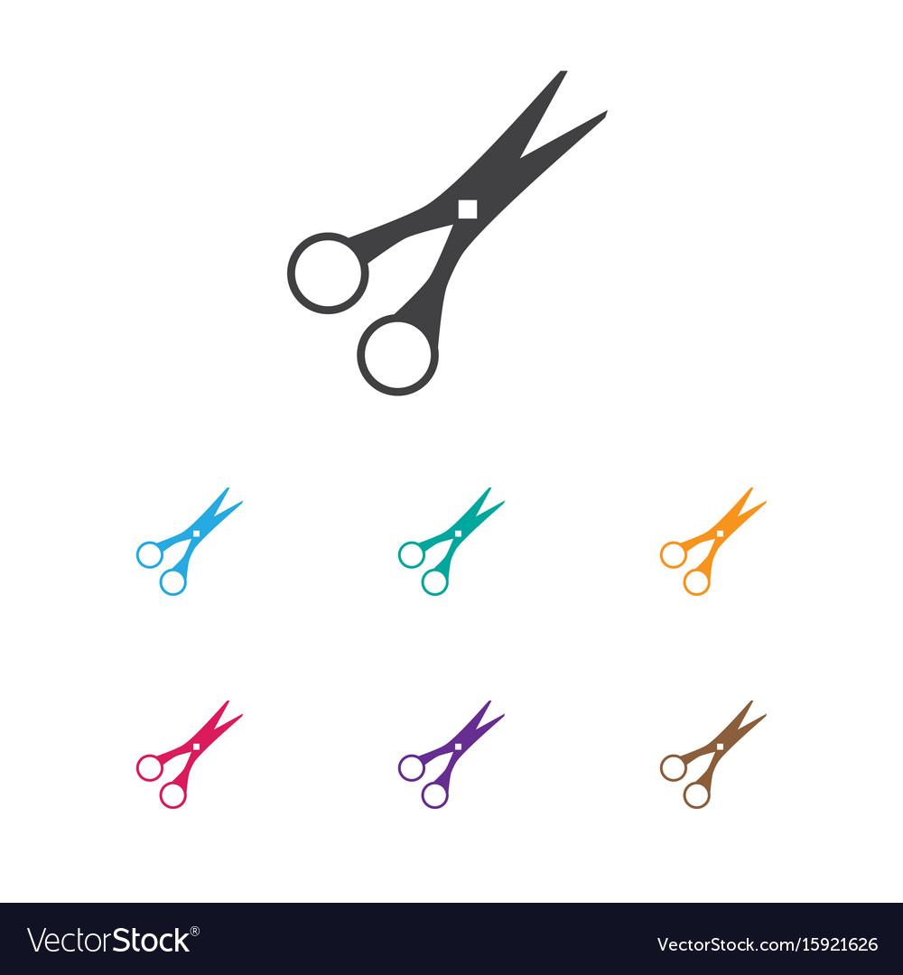 Of barbershop symbol on cut