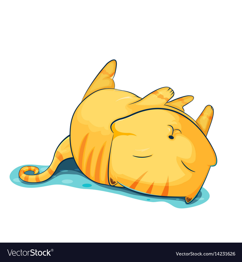 Orange cat cute cartoon sleep