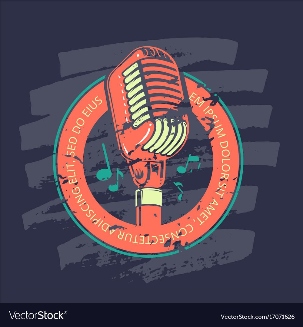 Retro karaoke music club bar audio record studio