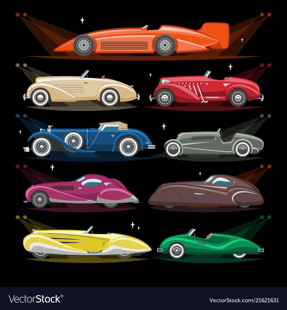 Art deco car retro luxury auto transport