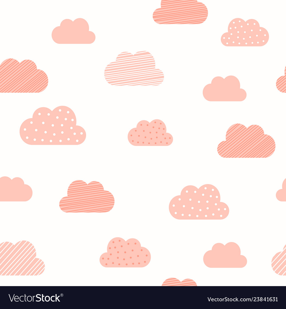 Bagirl pink clouds pattern background baby