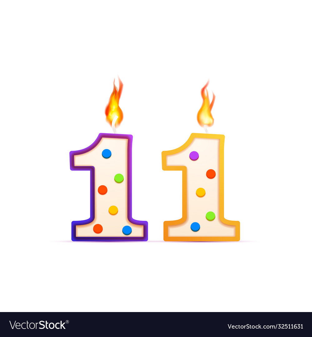Eleven years anniversary 11 number shaped