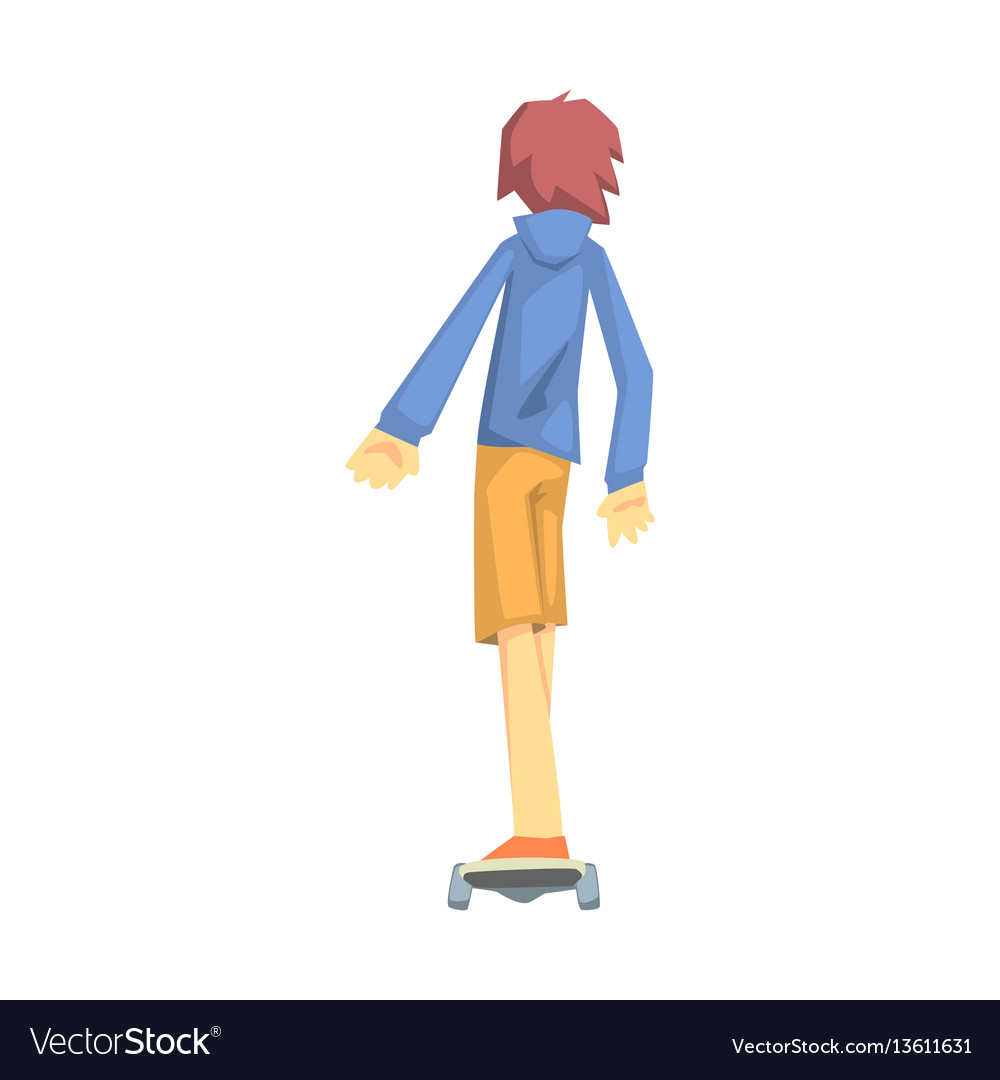Guy riding a skateoard part of teenagers vector image