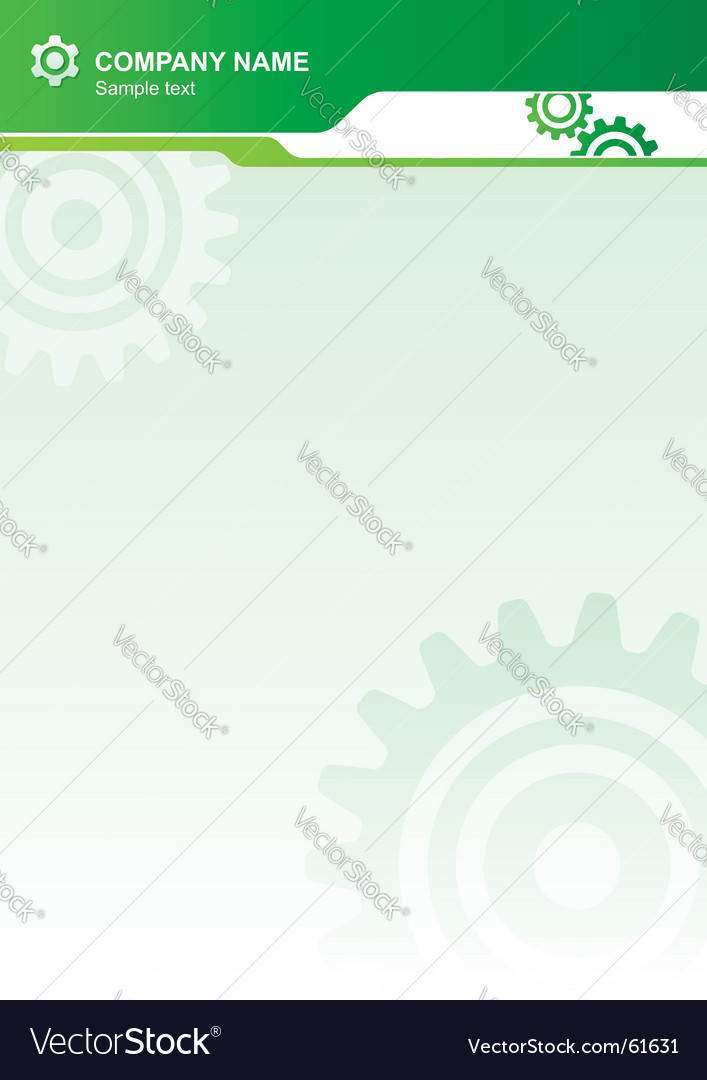Industrial letterhead