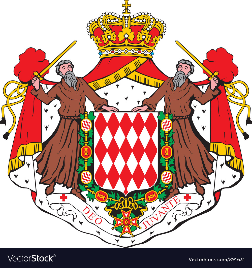 Monaco coat-of-arms vector image