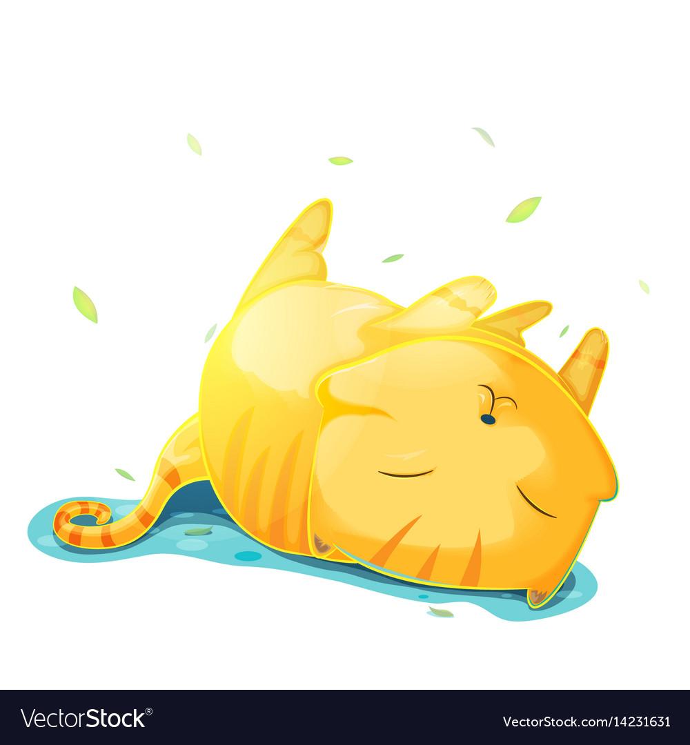 Orange cute cat cartoon