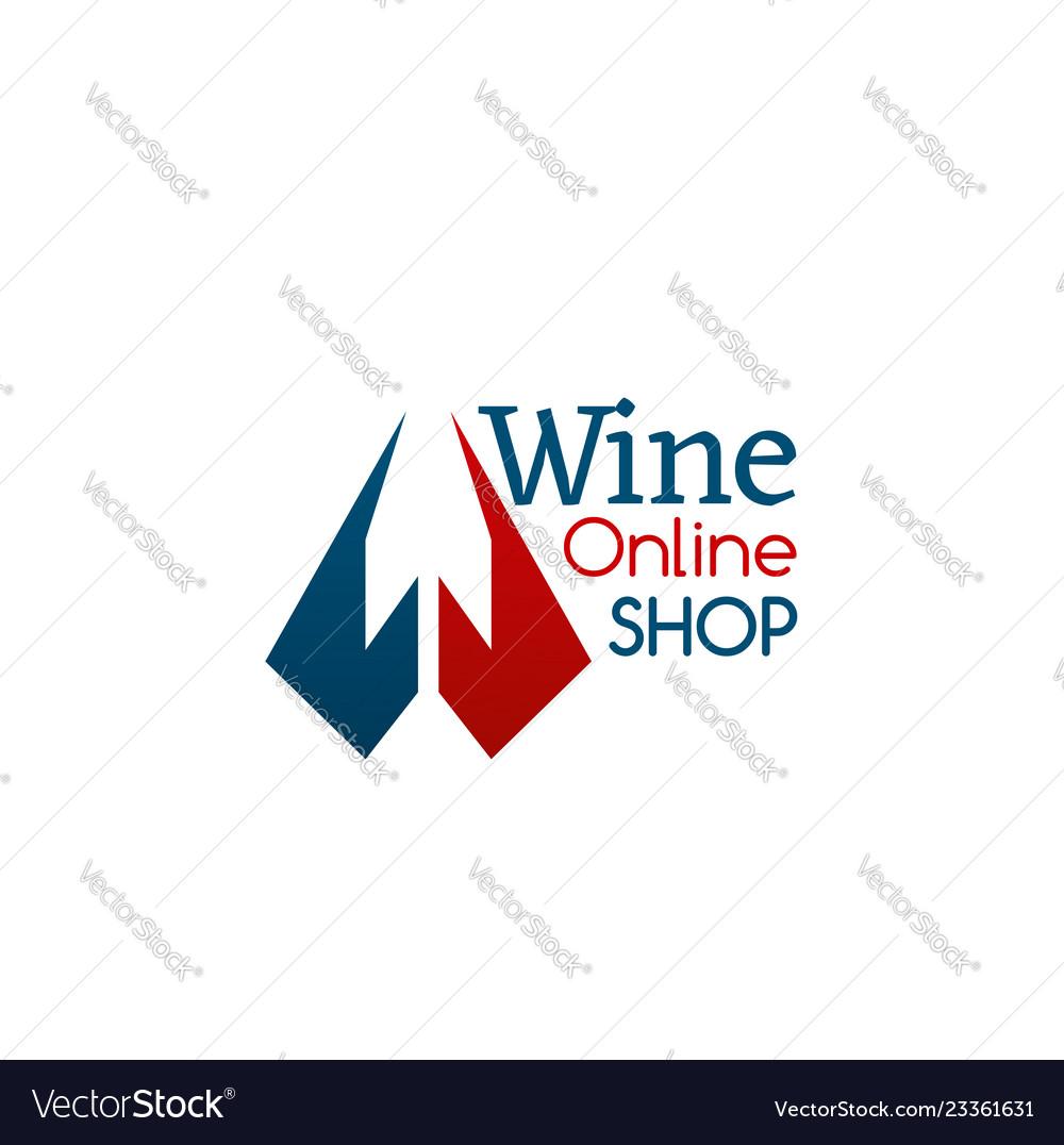 Wine online shop sign