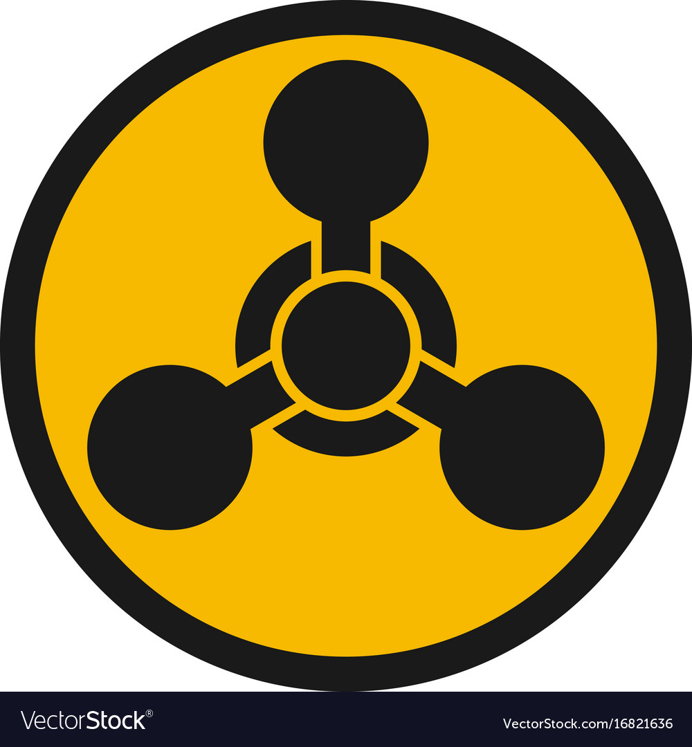 Chemical Weapon Warning Hazard Sign Royalty Free Vector