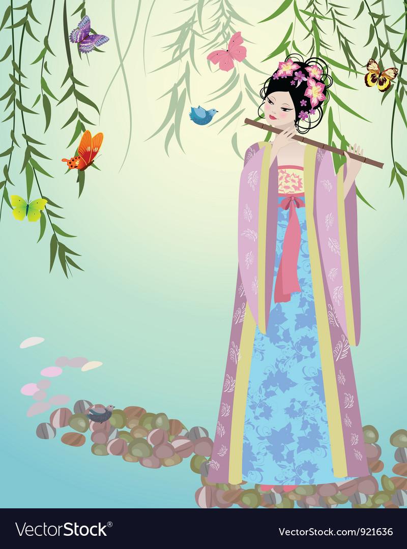 China girl3 vector image