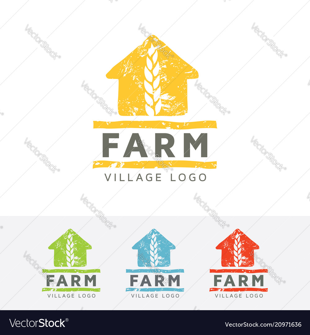 Farm village logo design