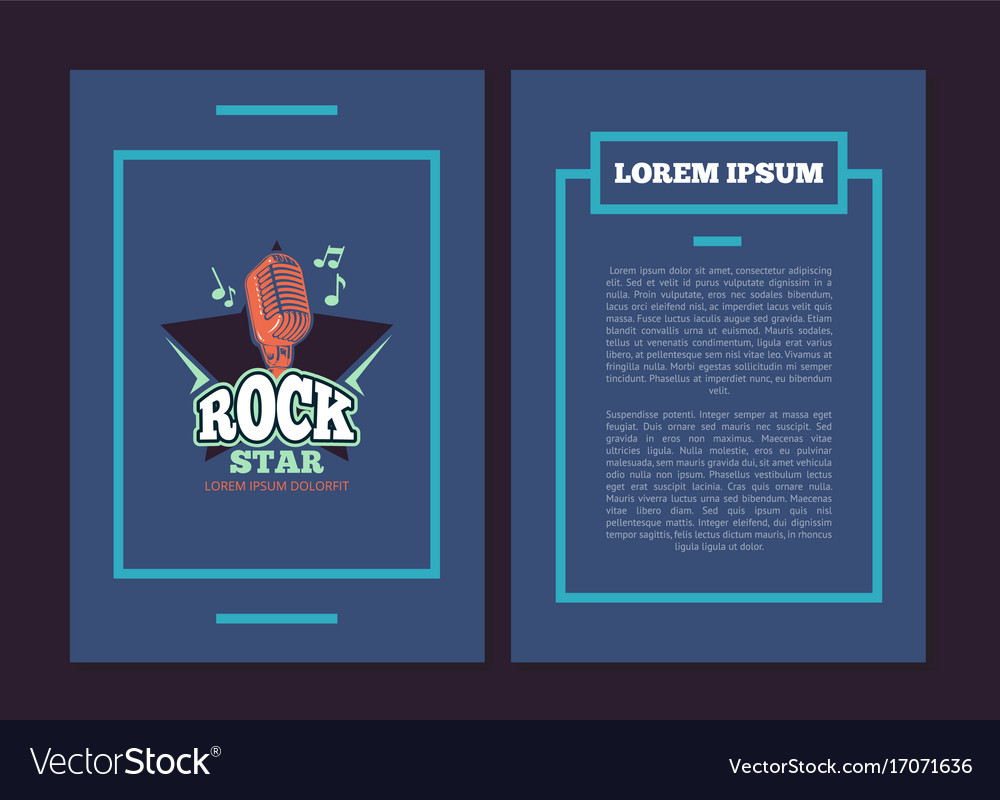 flyer template with karaoke club audio royalty free vector