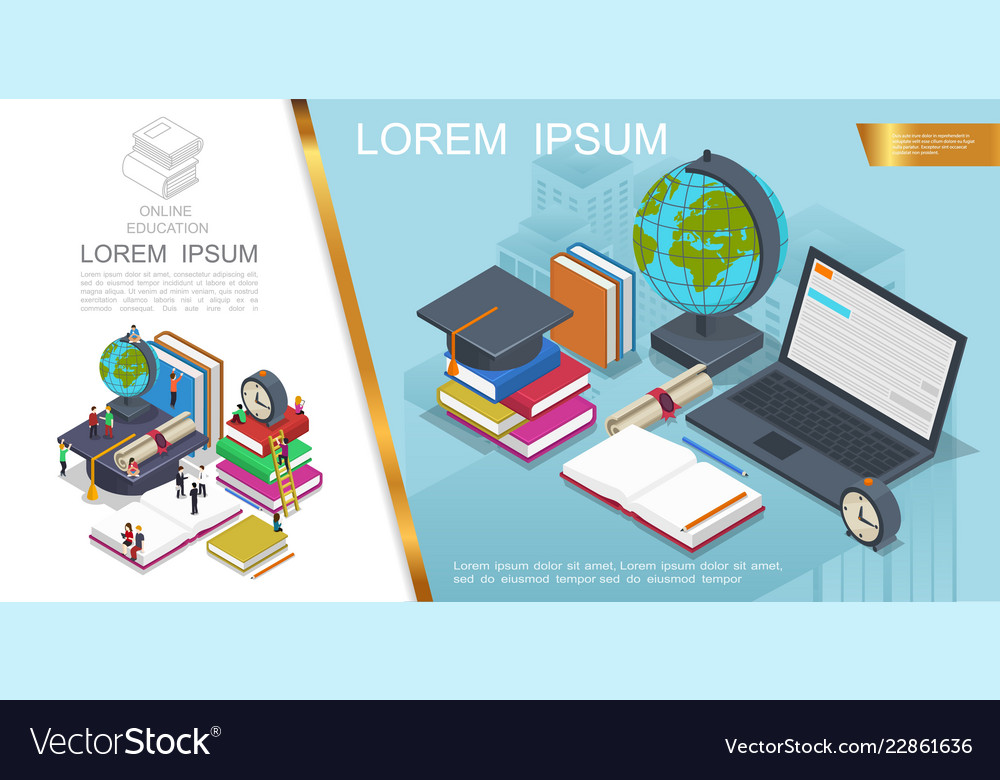 Isometric online education composition