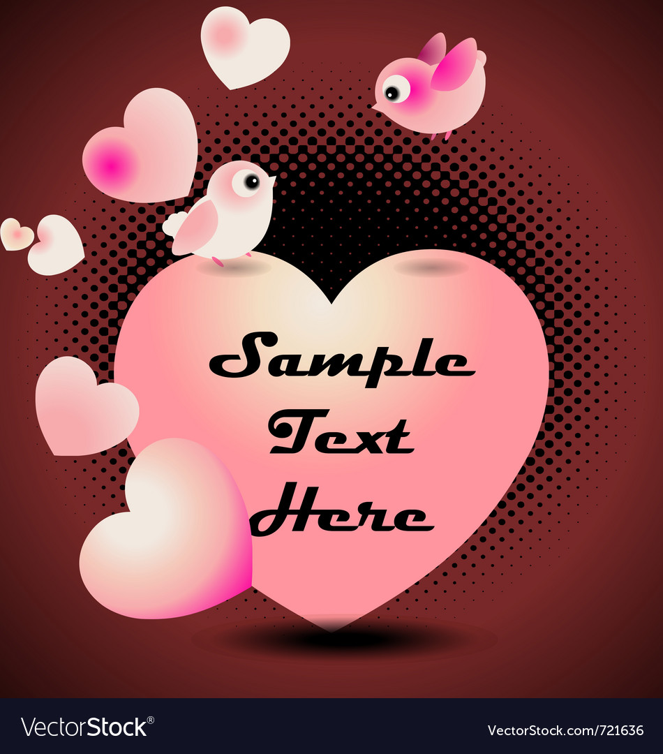 Love birds valentine greeting card vector image