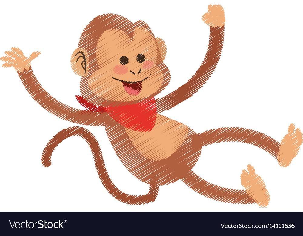 Monkey cartoon icon image