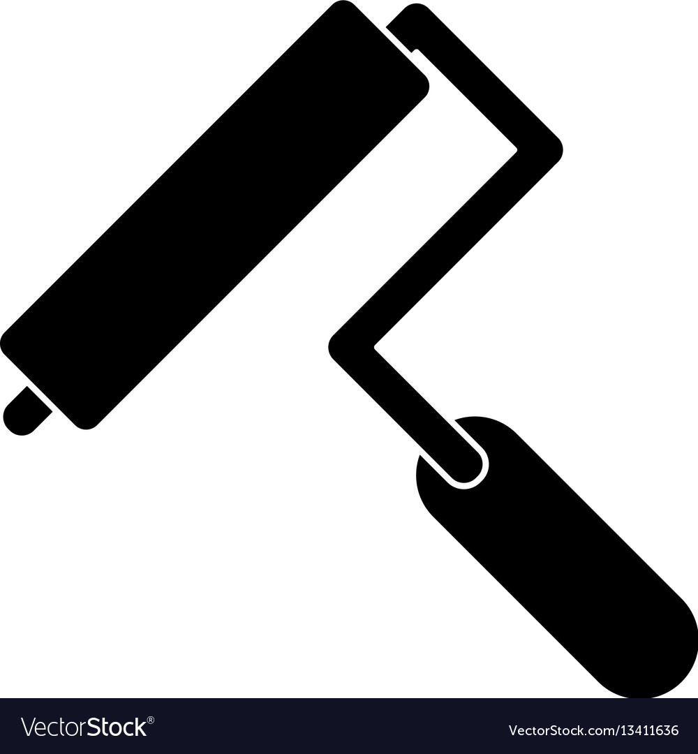 Paint roller tool pictogram