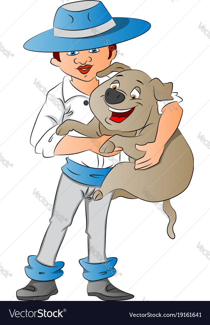 A girl holding her cute little puppy