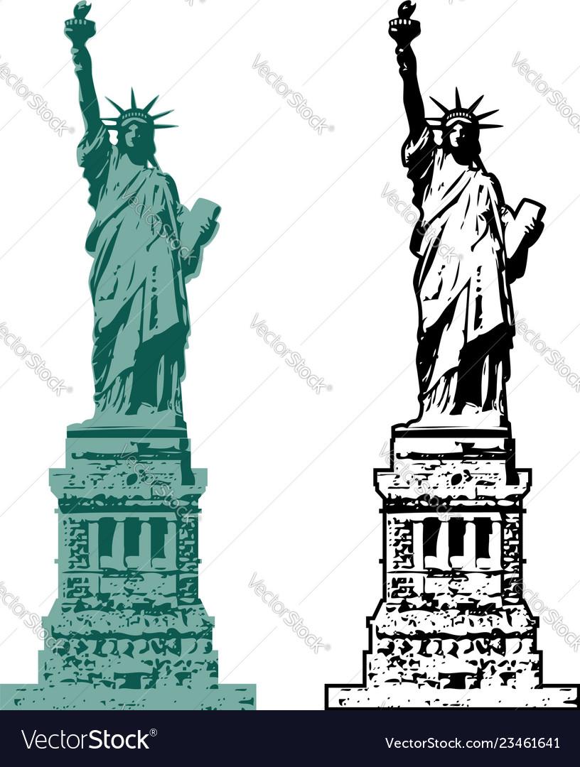 American symbol of new york statue of liberty