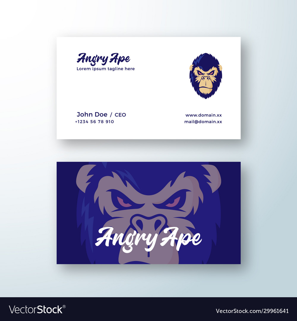 Angry ape abstract sign symbol or logo