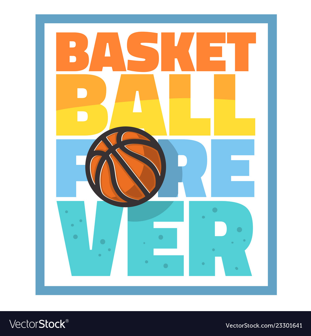 Basketball themed slogan t shirt print design