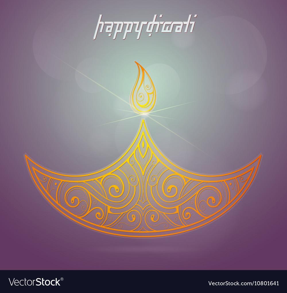 Diwali Indian Festival Greeting Card Royalty Free Vector
